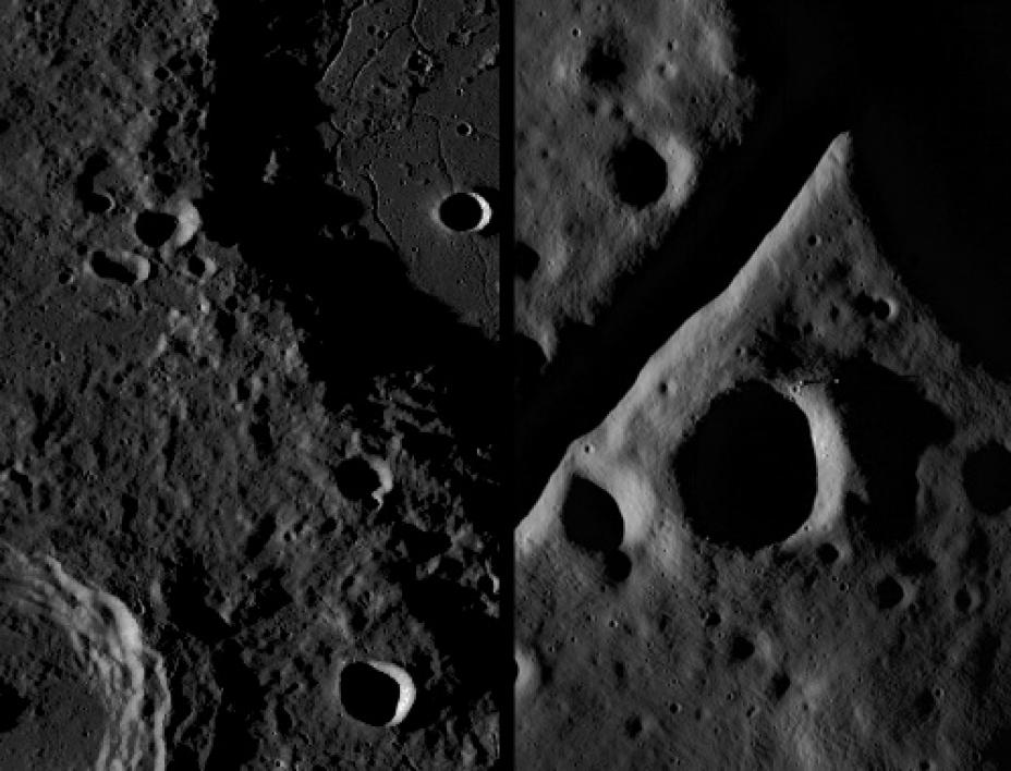 Images from the LROC's narrow and wide angle cameras.