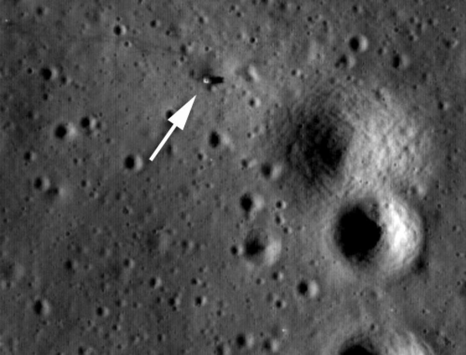 Apollo 14 site, as captured by the LROC.
