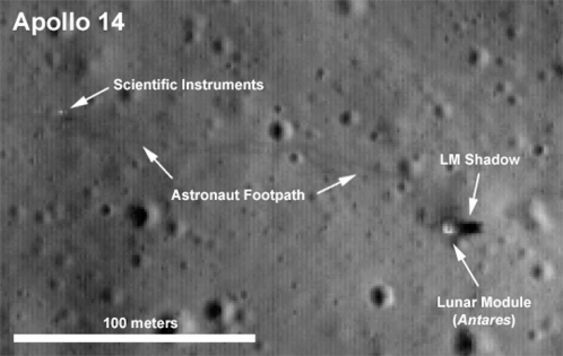 Detailed view of the Apollo 14 site.