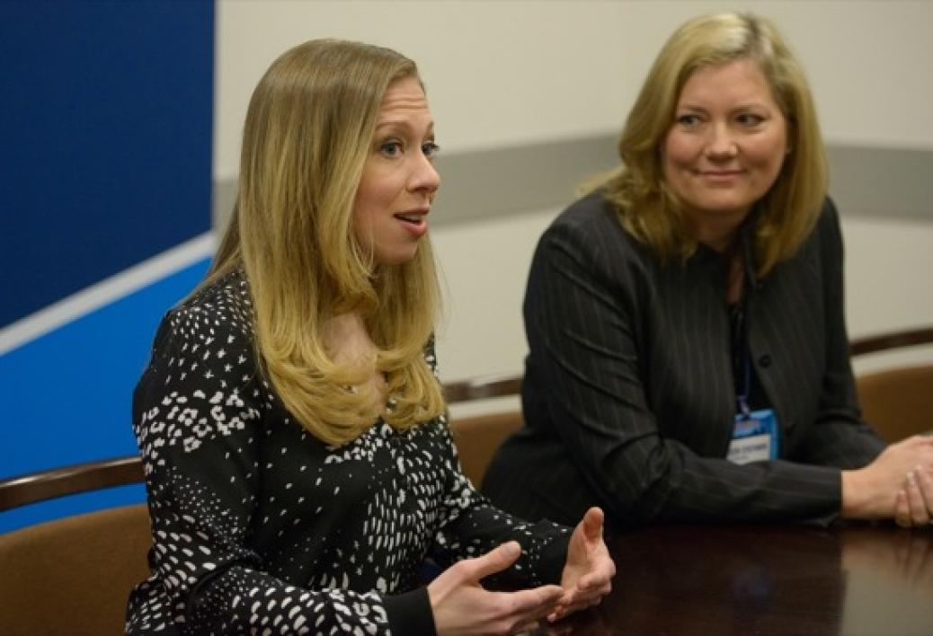 Chelsea Clinton and students at CGI U