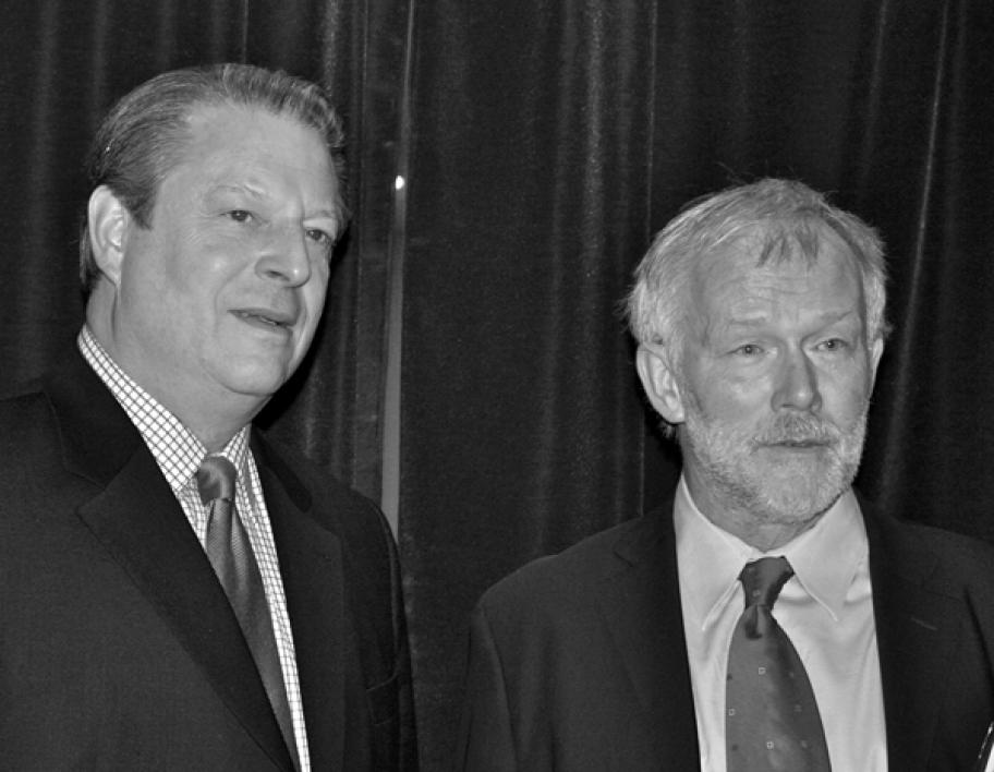 Al Gore and Sander van der Leeuw at ASU in 2007