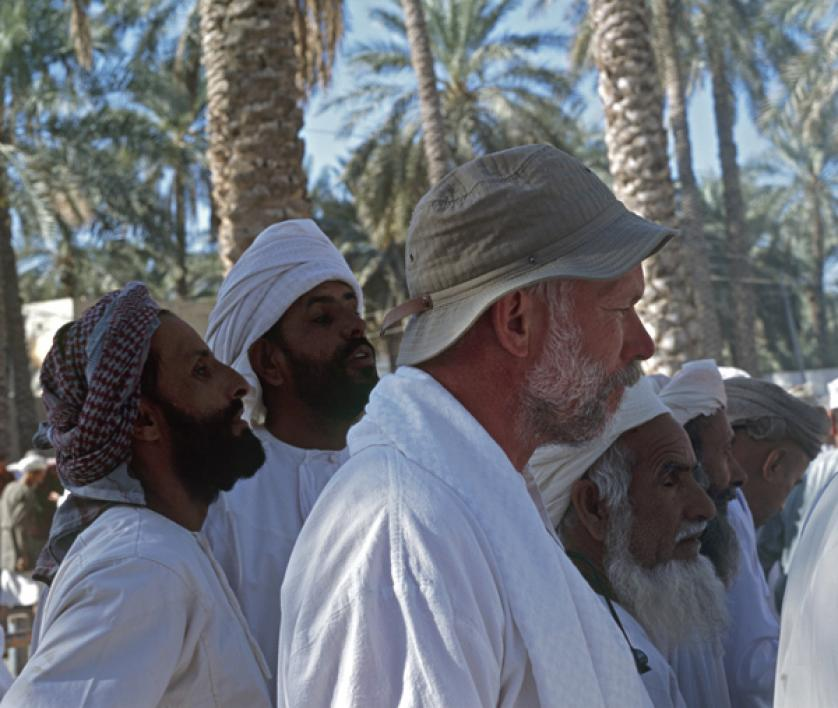 Sander van der Leeuw at the Nizwa cattle auction in Oman