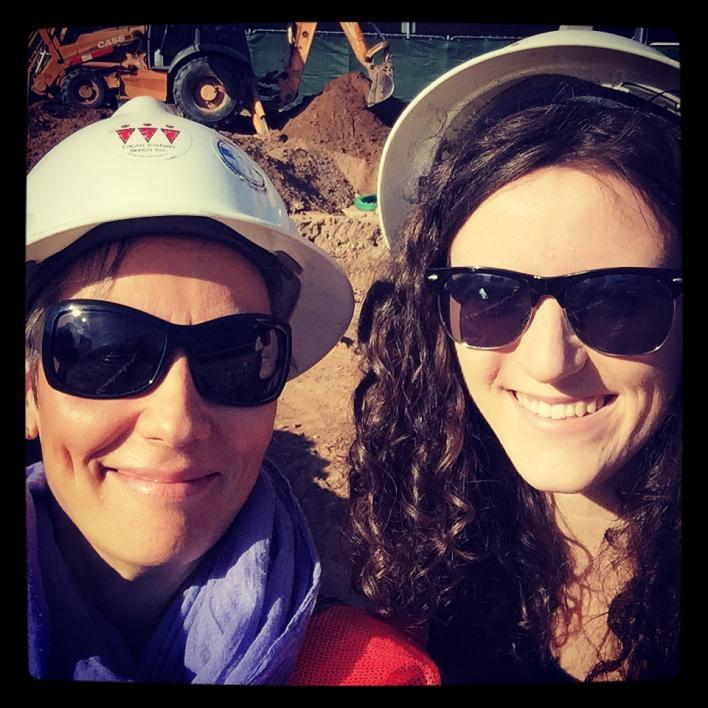 Associate professor Kostalena Michelaki and Jessica Roberson