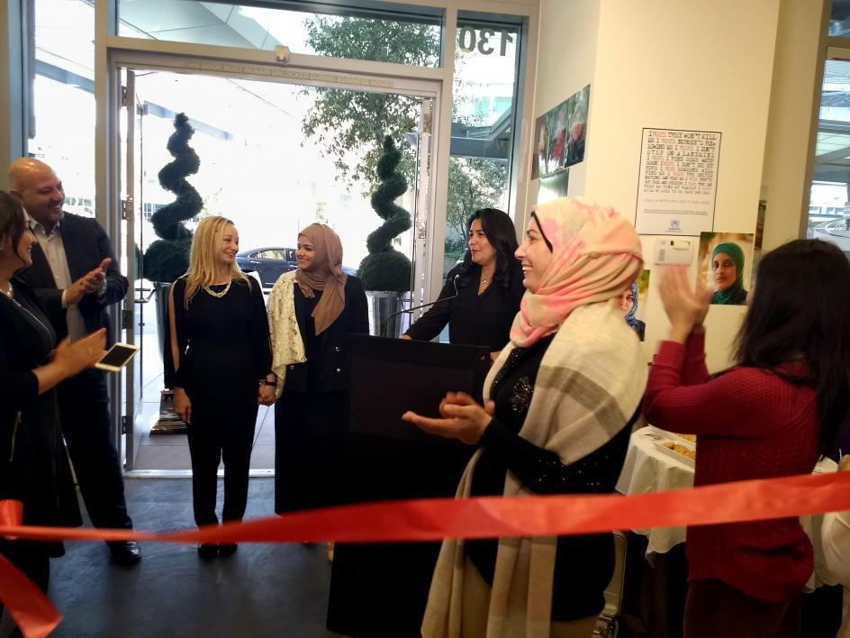 McDermott and Al-Maadeed recognized by Councilwoman Pastor at the grand opening of the Global Market pop-up store
