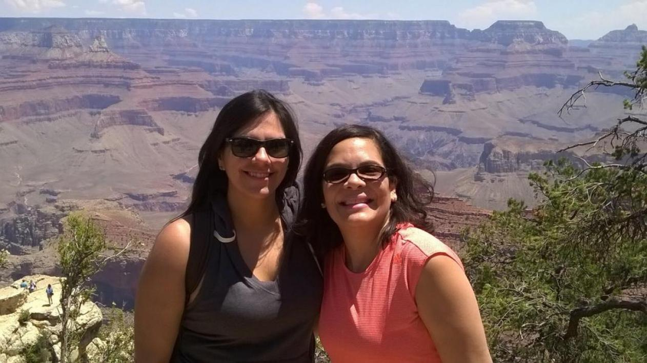 Pic of 2 faculty at the Grand Canyon