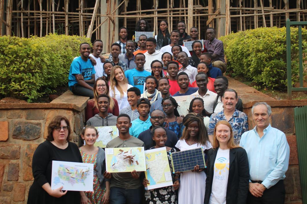 A group photo of Rwanda students and ASU faculty