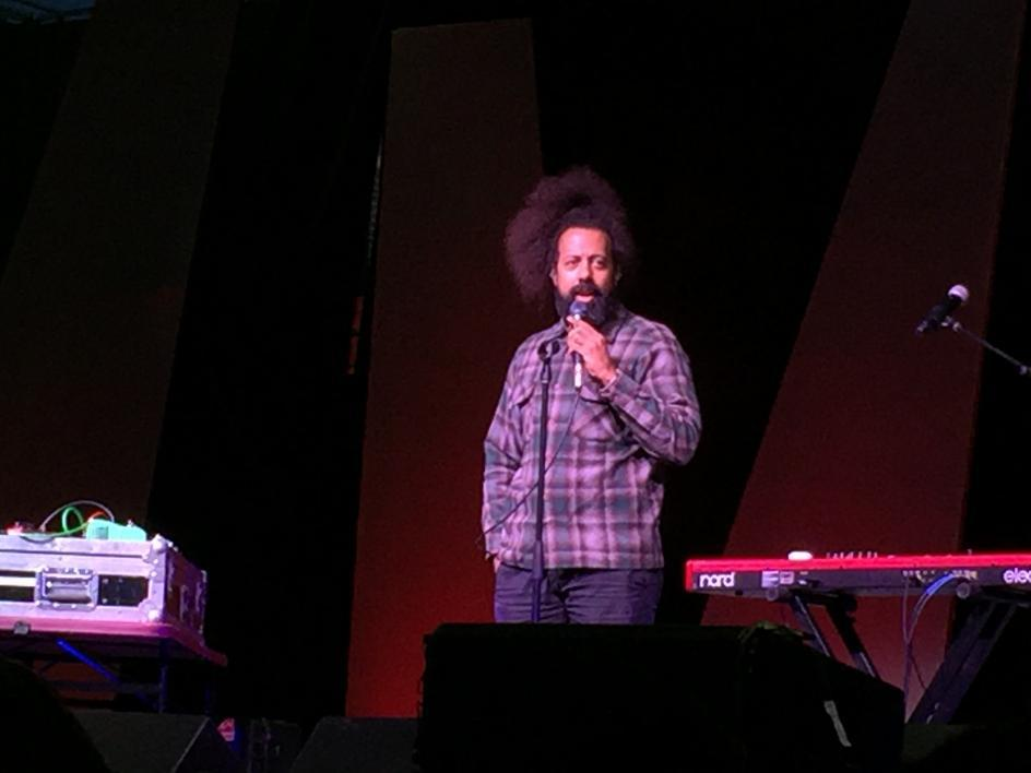 Reggie Watts performs at Sun Devil Stadium