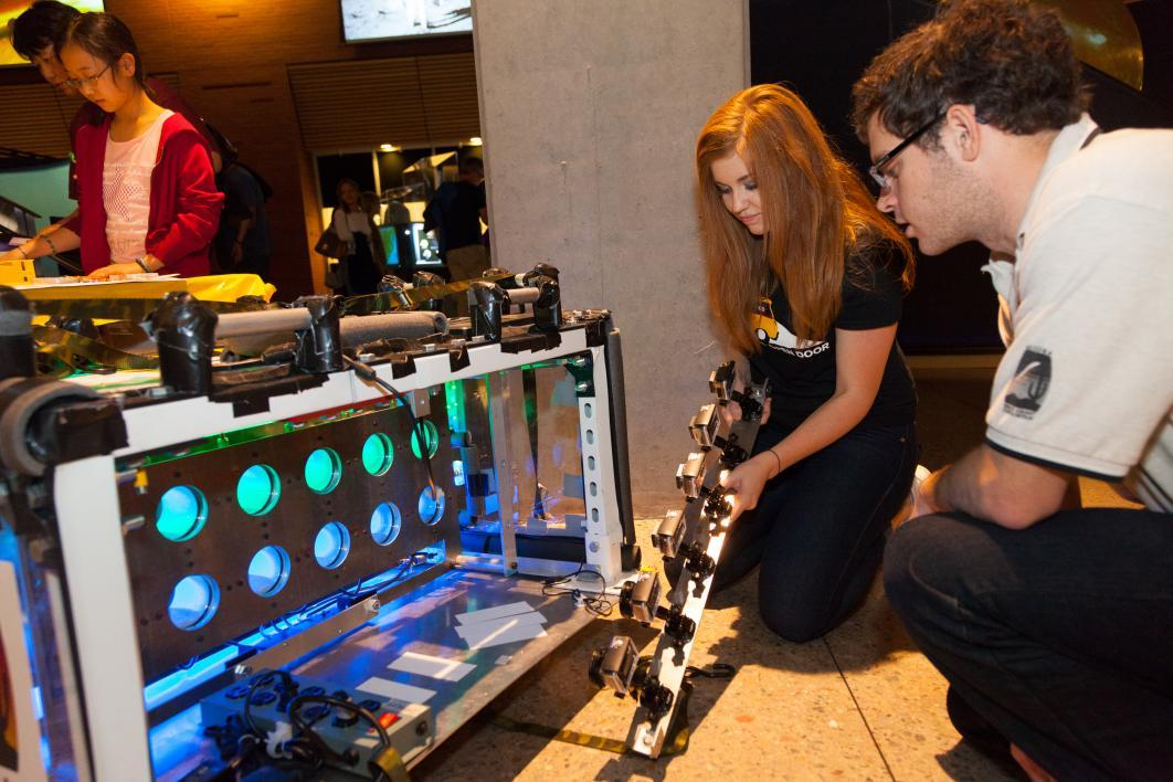 ASU student projects are showcased and shared with visitors to the School of Earth and Space Exploration