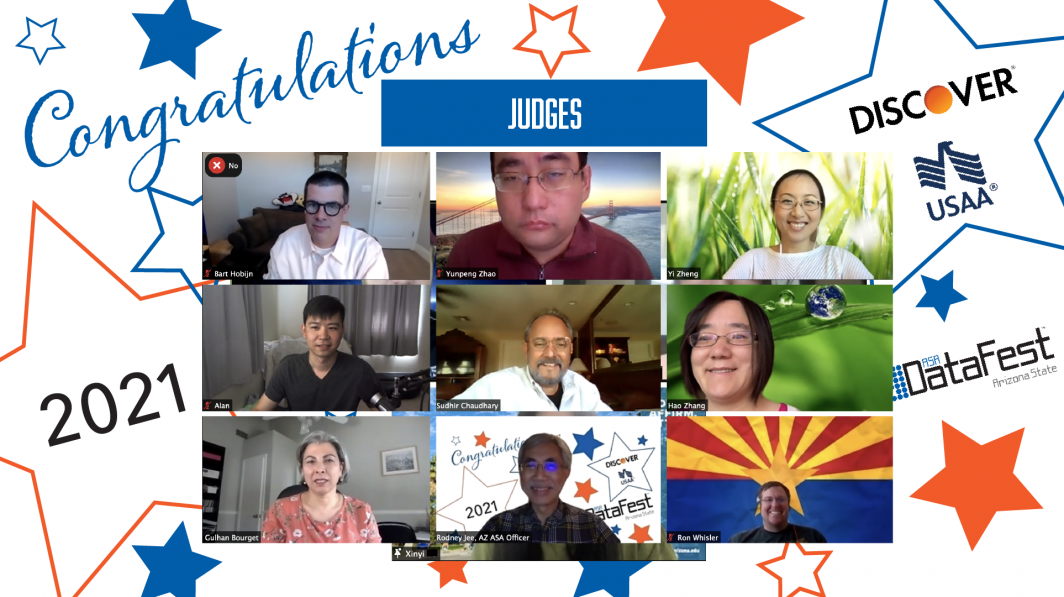 Judges for ASA DataFest 2021 at Arizona State University