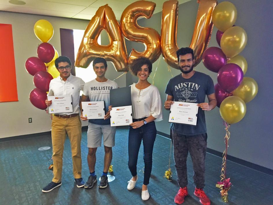 Saudi Arabian students receive certificate of completion