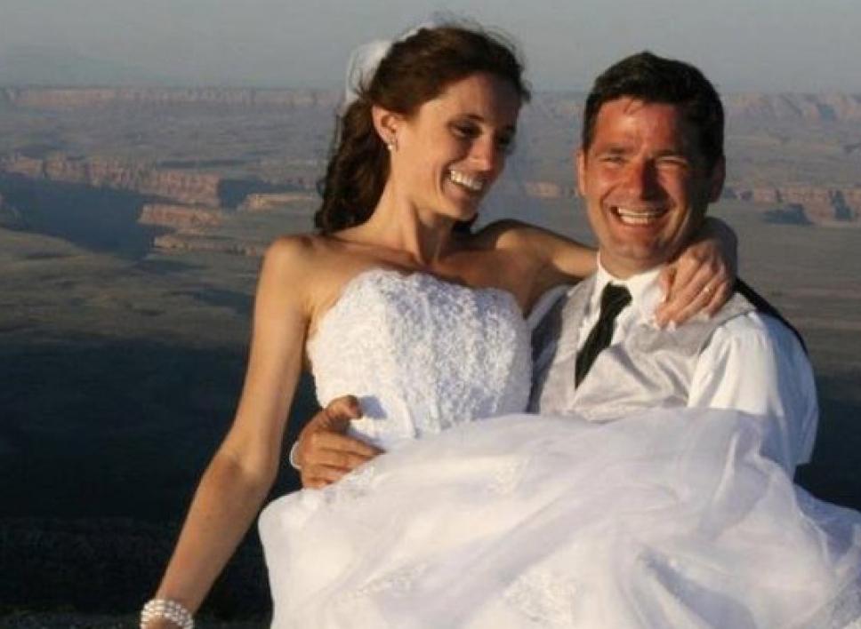 happy couple at Grand Canyon