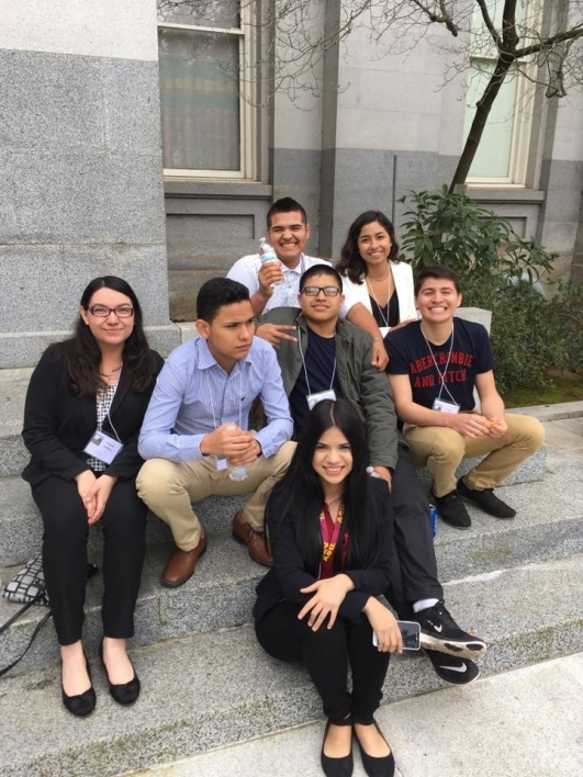 CAMP Project students at a leadership conference in 2017