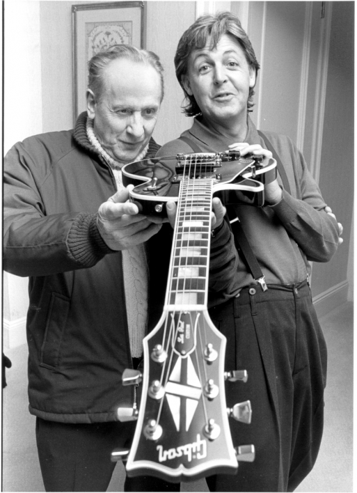 Two men and a guitar.