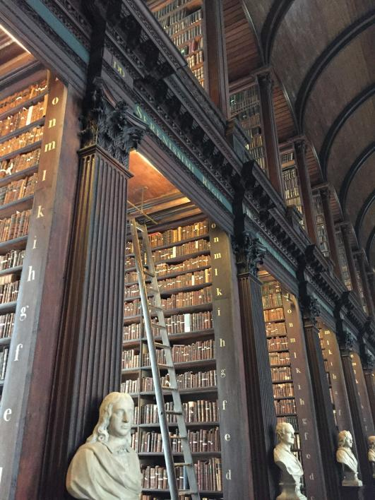 """Inside a library. From the summer 2018 """"Game of Thrones"""" study abroad tour. / Photo by Mickee Engl"""