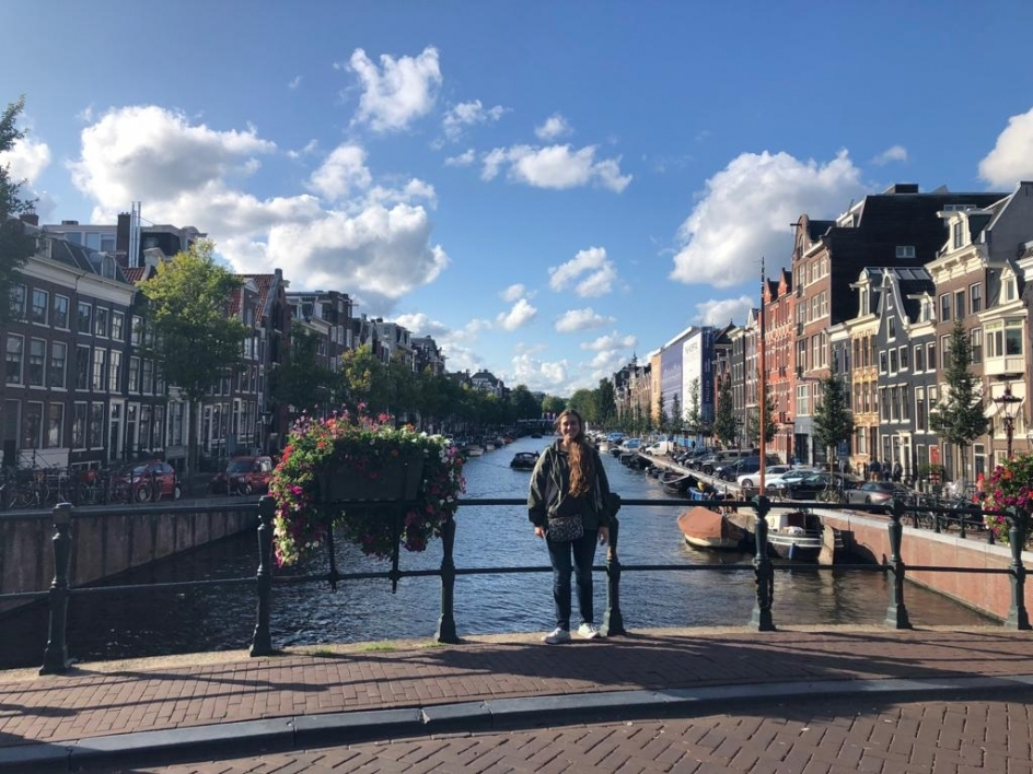 Rose visits Amsterdam