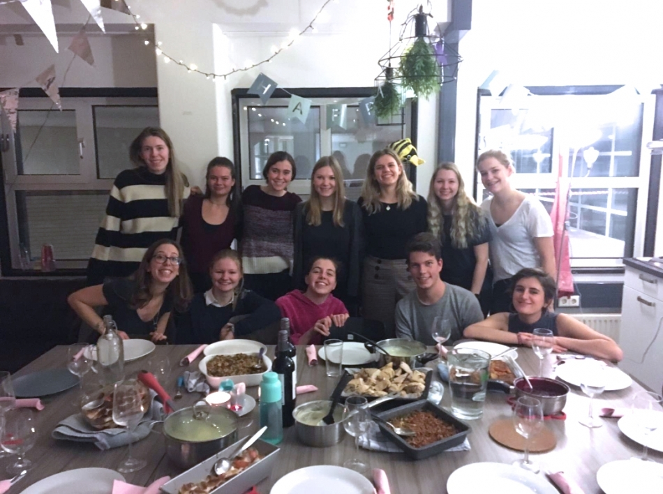 Lopez celebrating Thanksgiving in the Netherlands