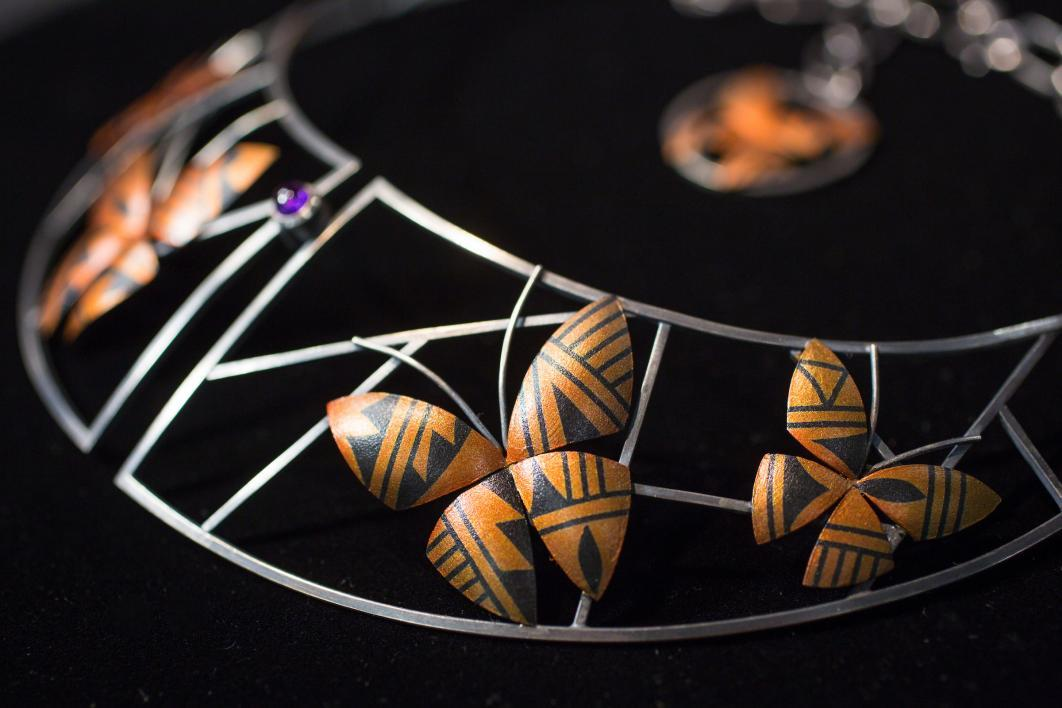 A necklace by ASU alum and fashion designer Loren Aragon