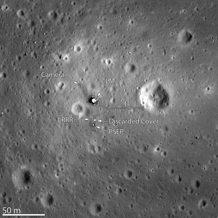 Image of the Apollo 11 landing area taken by an ASU space camera