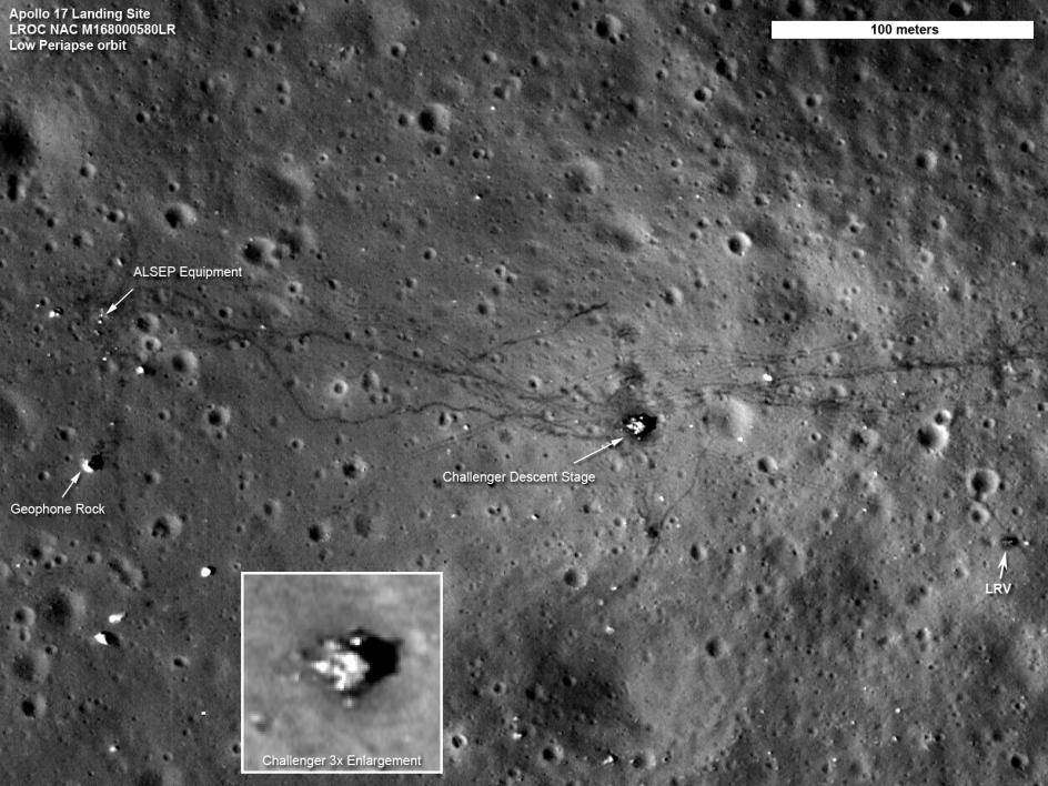 A labeled image of footpaths on the moon