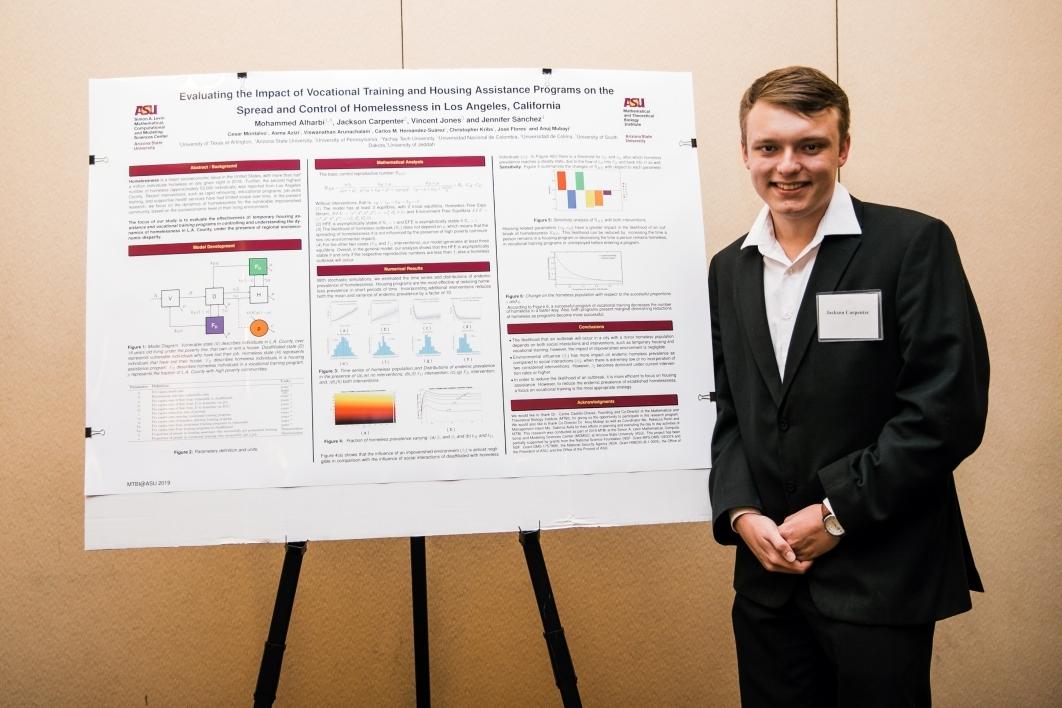 Jackson Carpenter presents research poster at MTBI