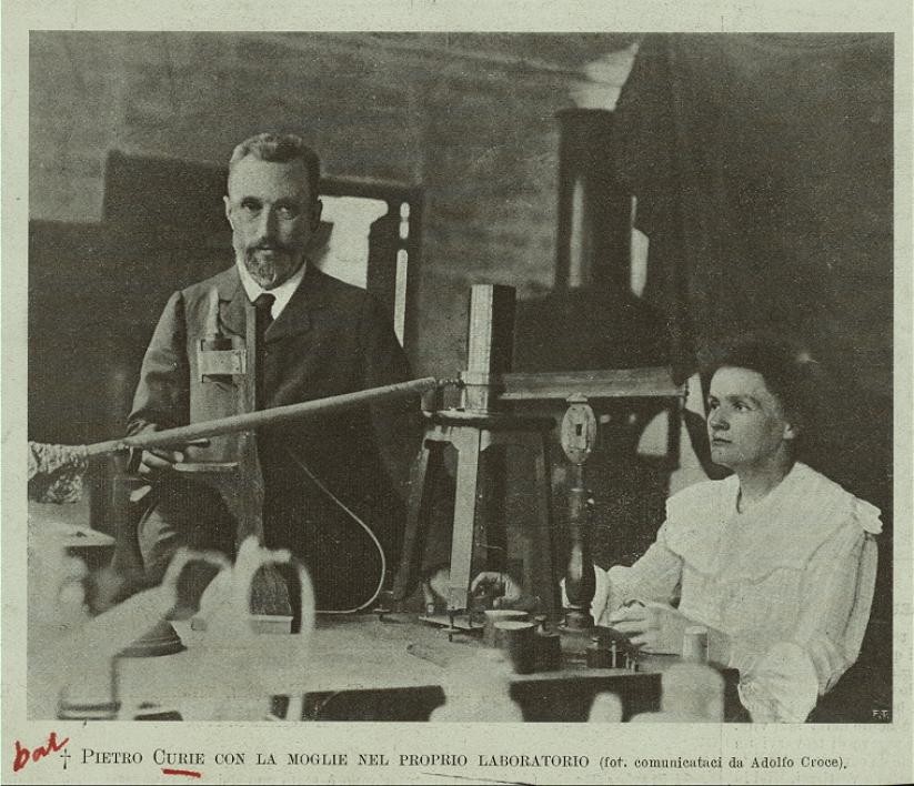 An image of Marie Curie, scientist