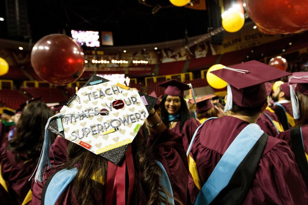 "A graduation cap says, ""I teach, what's your superpower?"""