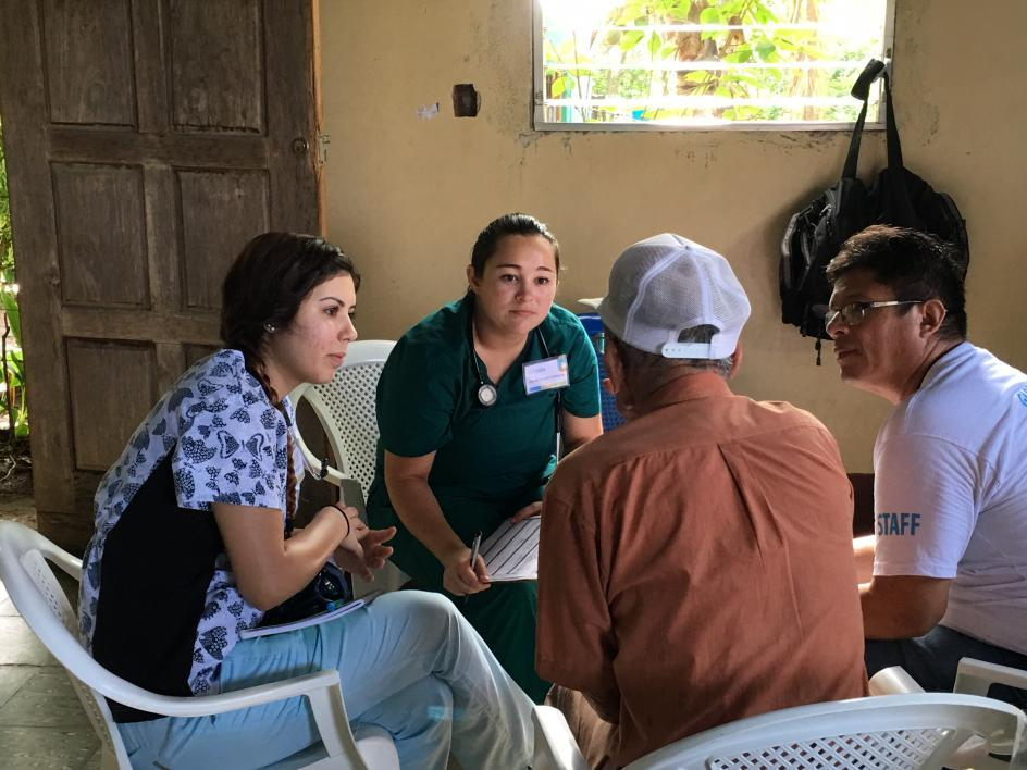 ASU students take patient history in Nicaragua