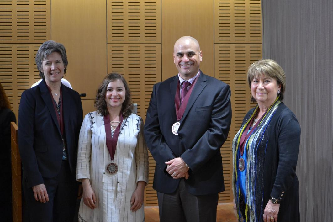 (From left to right) Linda Luecken, Anca Delgado, Gabriel Q. Shaibi and Barbara Klimek
