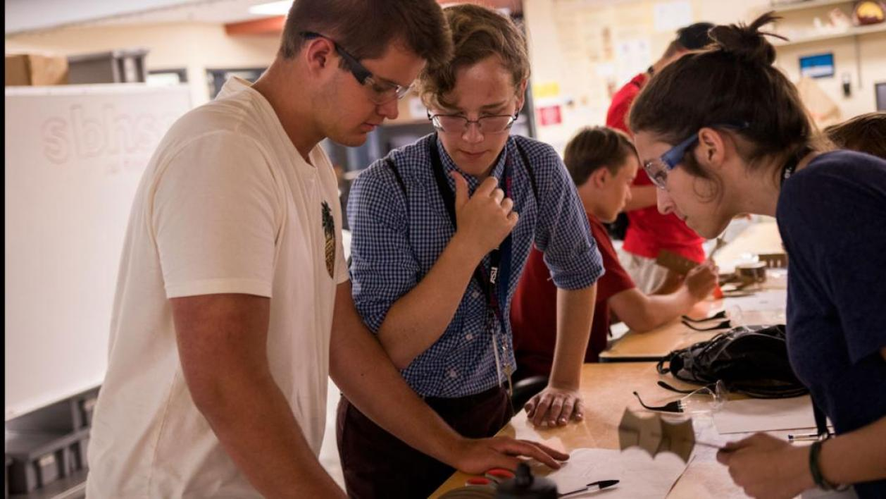 High school students get a taste of the university experience at SEE@ASU, including lab visits, meeting faculty and working on teams solving real problems. Photographer: Marco-Alexis Chaira/ASU