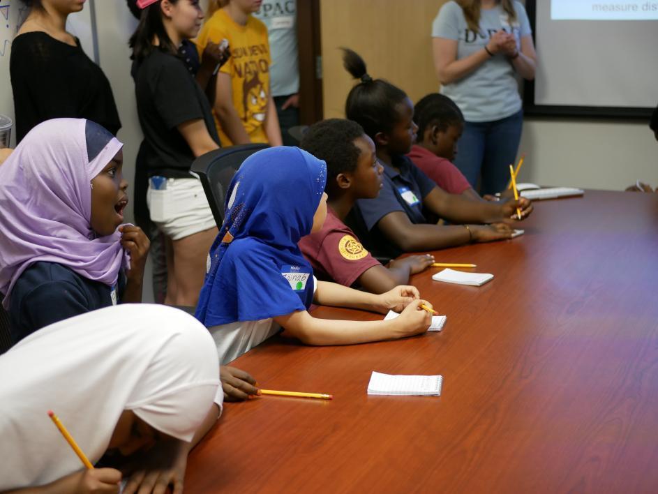Crockett Elementary School Students taking notes
