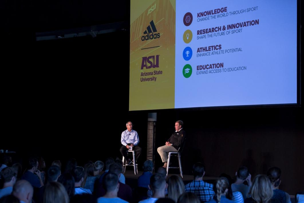 90770471506 Innovation in partnerships  The new adidas ASU Digital Education  Partnership will provide scholarships to 100 adidas employees as part of  the Global Sport ...