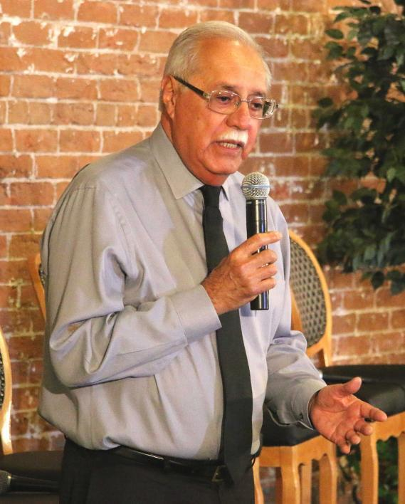 Ed Pastor speaks at an ASU event