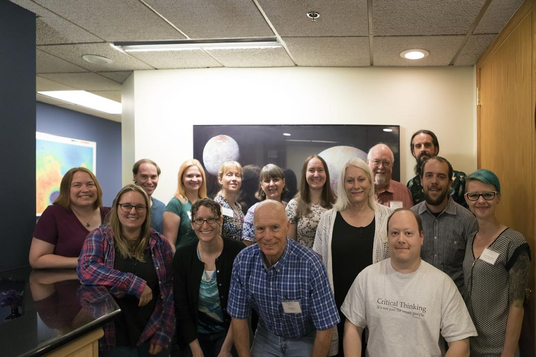 Caldwell attended the Planetary Crater Consortium in Boulder, Colorado.
