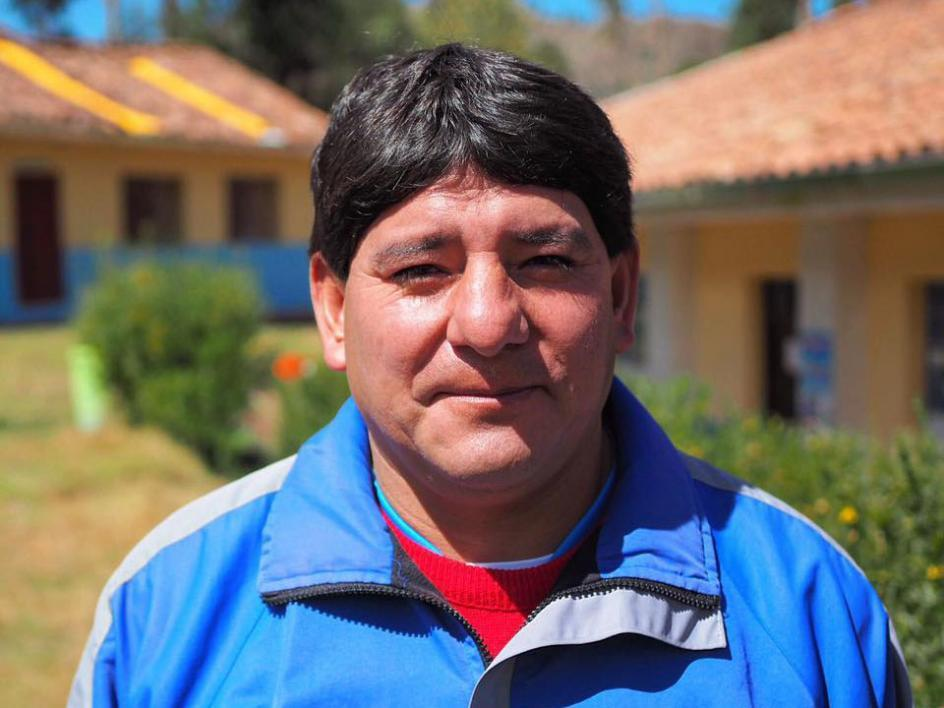 Agrepino, school principal in Huillcapata, Peru