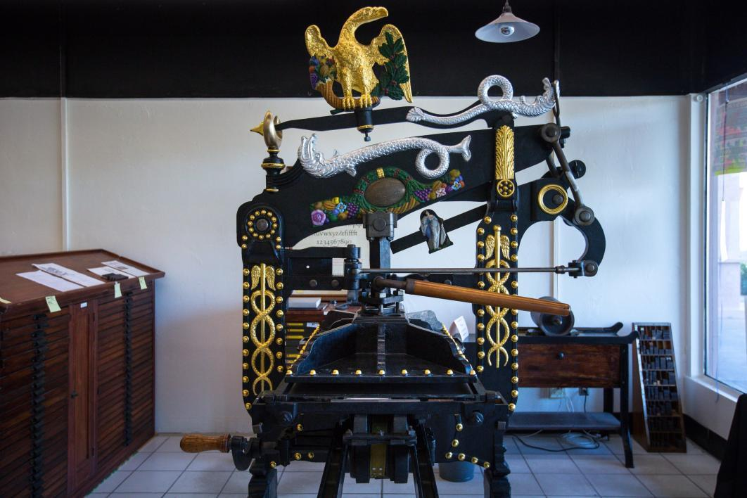 Petko type collection printing press.