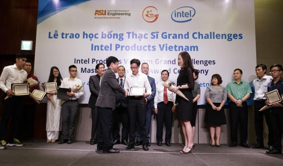 The Fellows are recognized at an awards ceremony in Vietnam