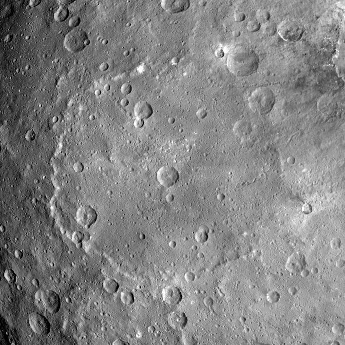 Kerwan Crater on dwarf planet Ceres