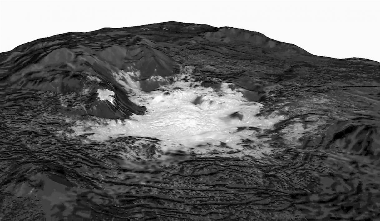 Cerealia Facula on dwarf planet Ceres