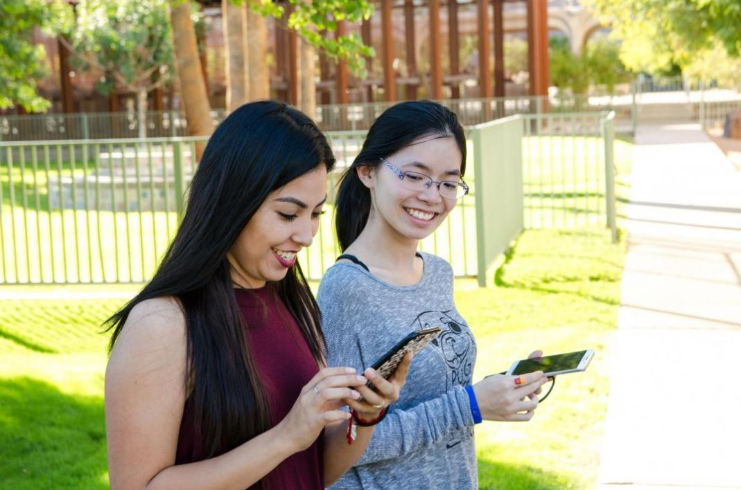 Students play Pokemon GO