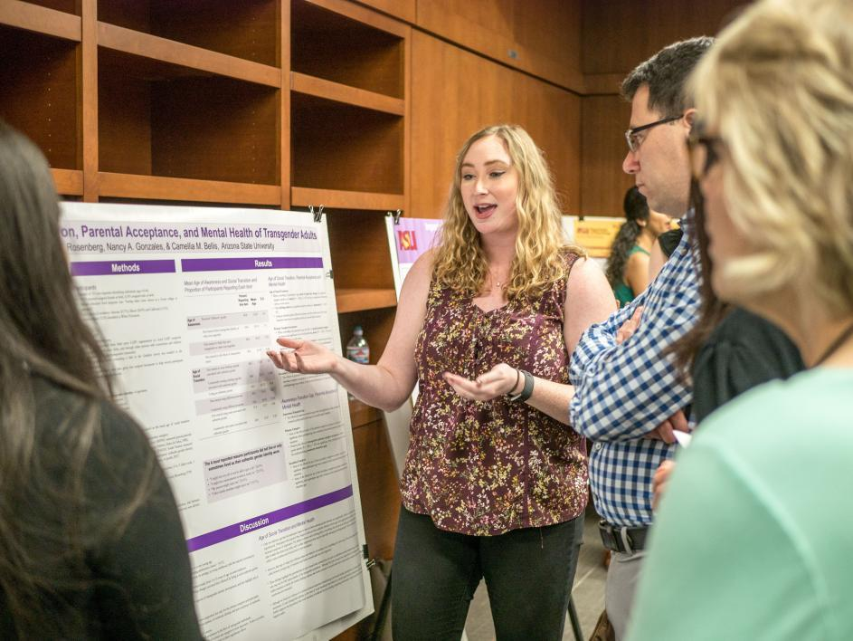 ASU Psychology Student Presenting