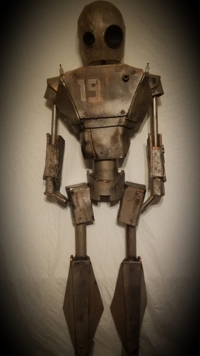 robot made from PVC pipe, EVA foam and cardboard