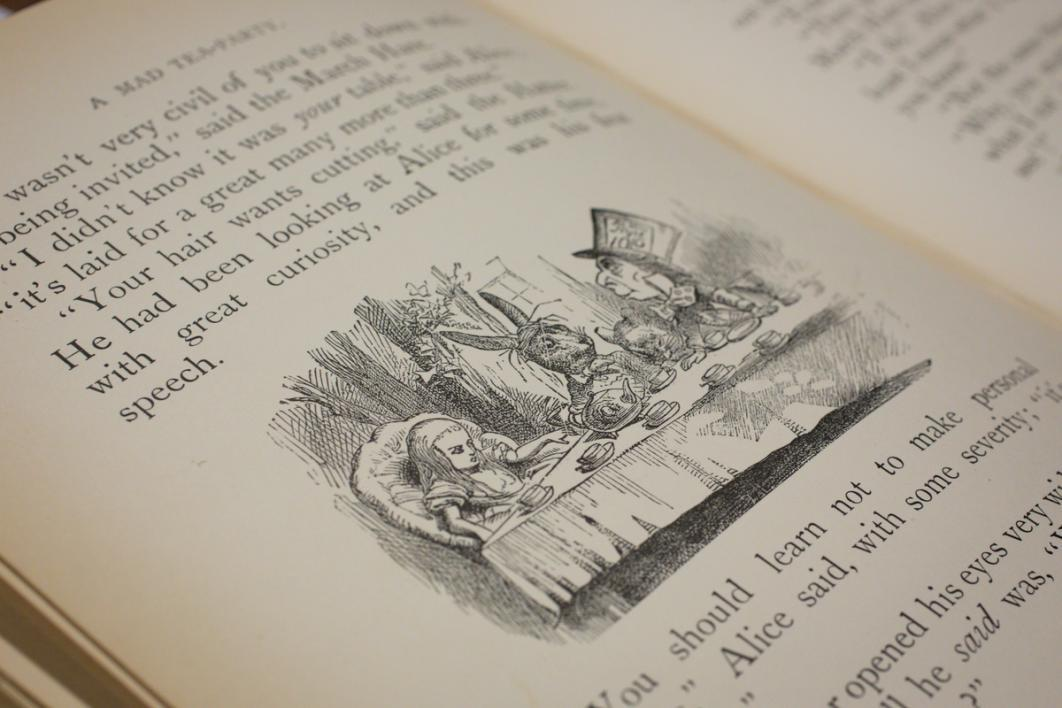 lewis carroll alice in wonderland thesis 1 in the novel alice's adventures in wonderland by lewis carroll, the protagonist alice is a seven year-old girl she falls down a rabbit-hole chasing a white rabbit with a waistcoat.