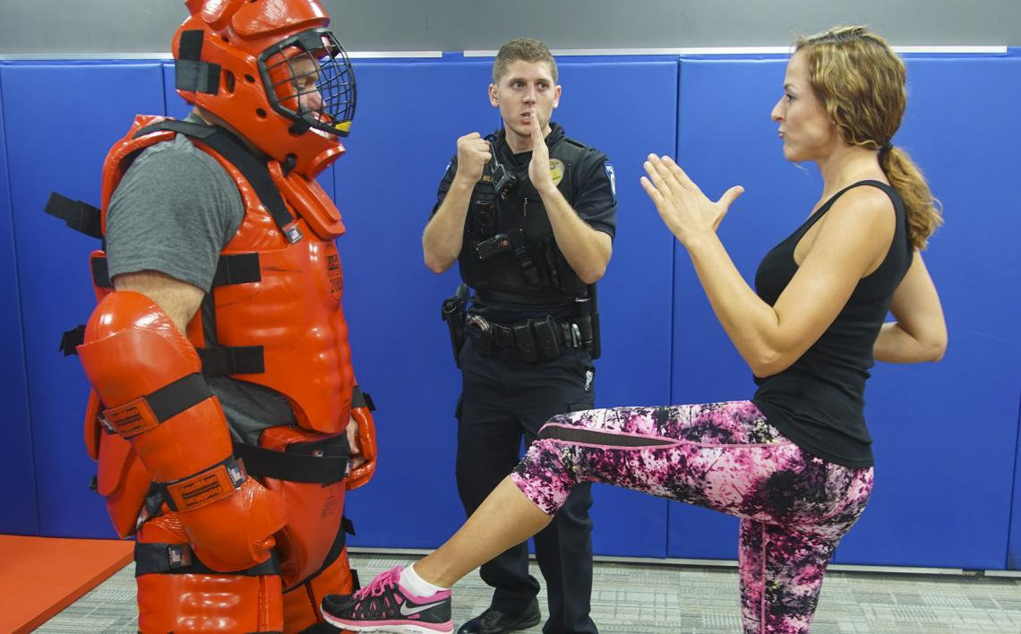R.A.D. Basic graduates may take R.A.D. Advanced to learn more specialized self-defense tactics. The classes, offered once a month through April 2017, also freshen basic skills. Each R.A.D. Advanced class consists of separate movements like elbow drops, gr