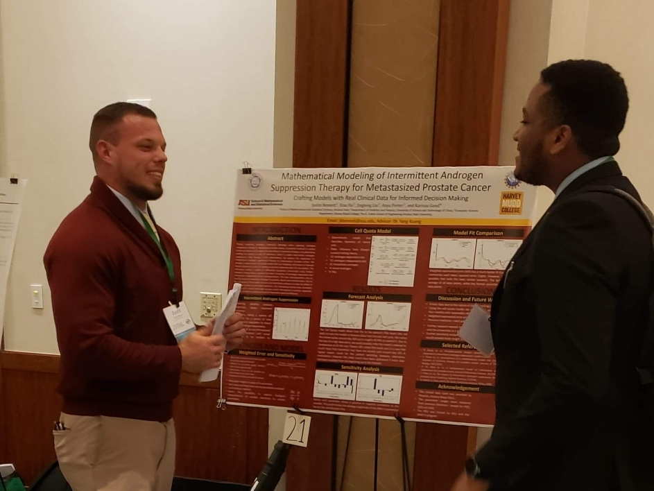 Bennett presenting research at CUR