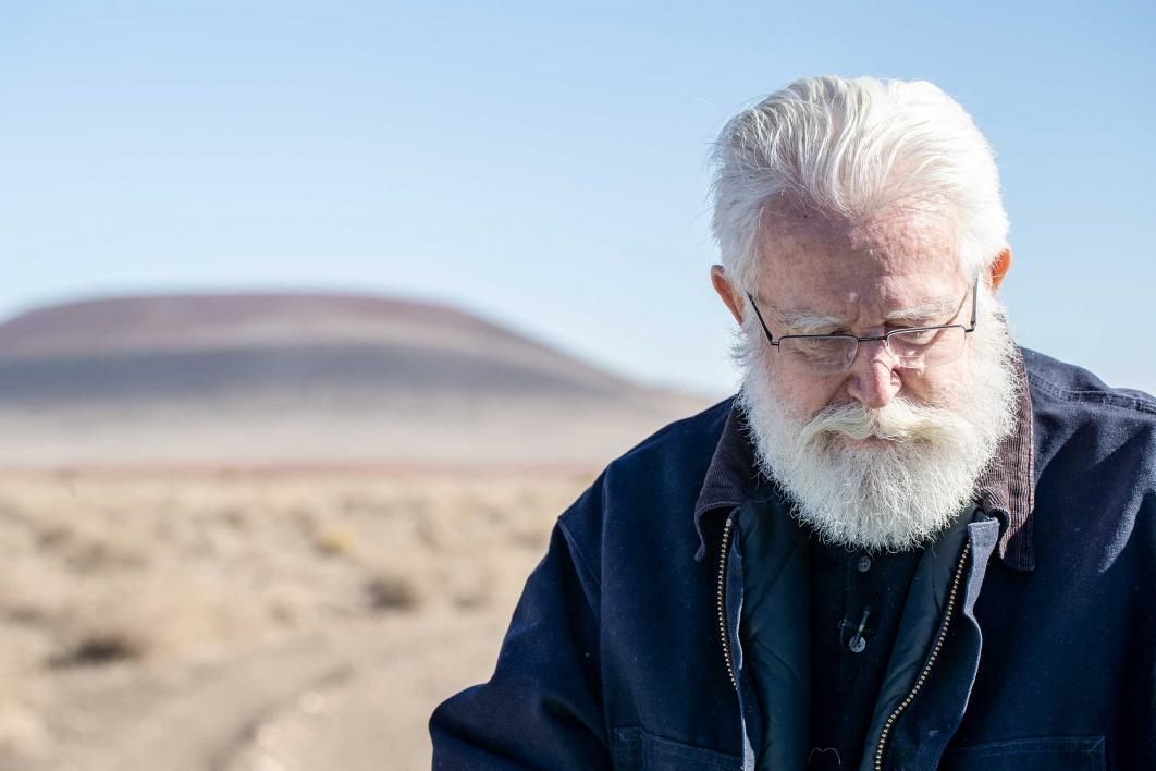 Artist James Turrell at Roden Crater