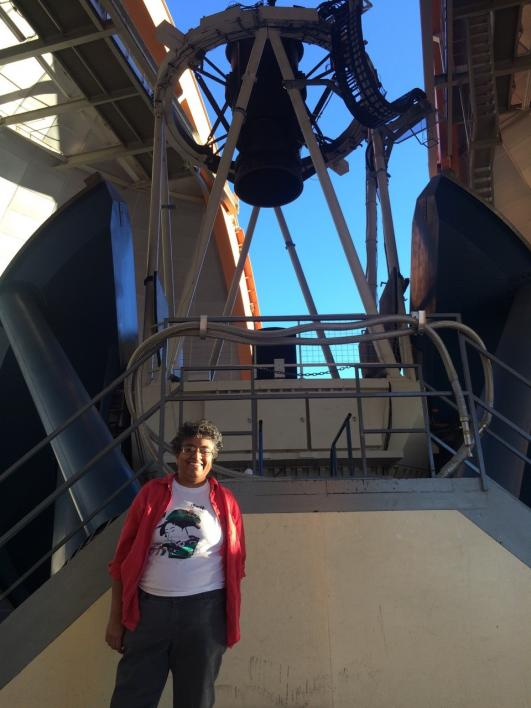 ASU astronomer Sangeeta Malhotra at the CTIO Blanco telescope
