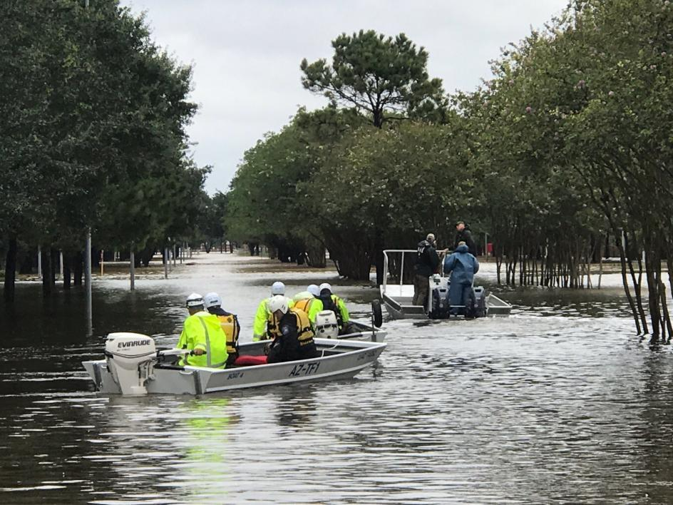 Hurricane Harvey water rescue