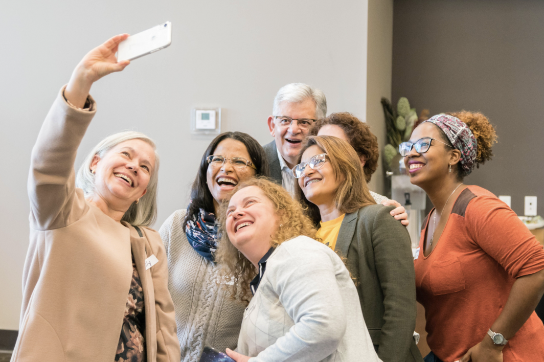 Brazilian K-12 Educators pose for a selfie