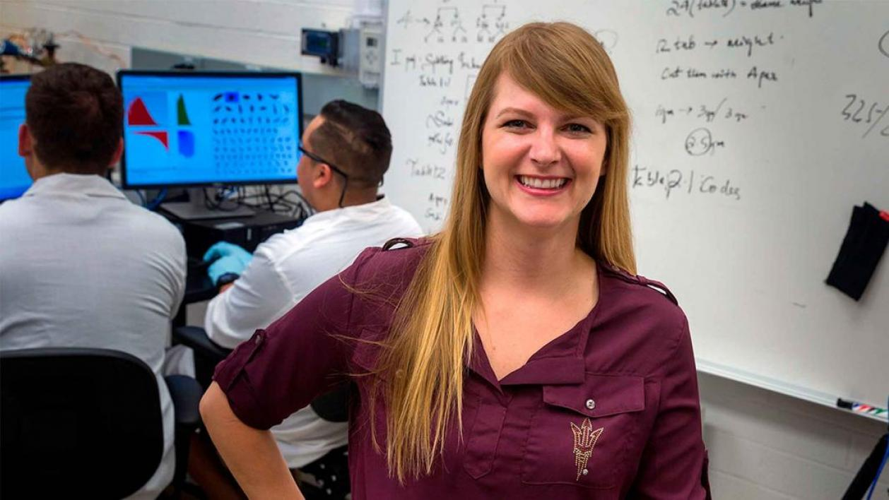 Assistant Professor Heather Emady is one of 10 Ira A. Fulton Schools of Engineering faculty members to receive a National Science Foundation CAREER Award for 2018 to 2019.