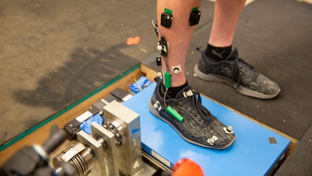 A robotic ankle platform developed by Hyunglae Lee at ASU